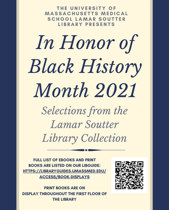Black History Month book display flyer